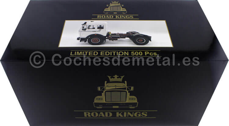 1973 Camion Mercedes-Benz NG 1632 Blanco 1:18 Road Kings 180043