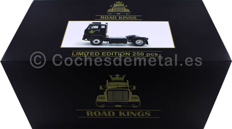 1965 Camion Volvo F88 John Player Team Lotus F1 Negro 1:18 Road Kings 180066