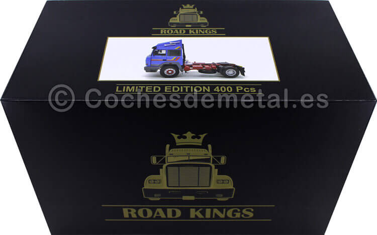 1988 Camion Iveco Turbo Star Azul 1:18 Road Kings 180072