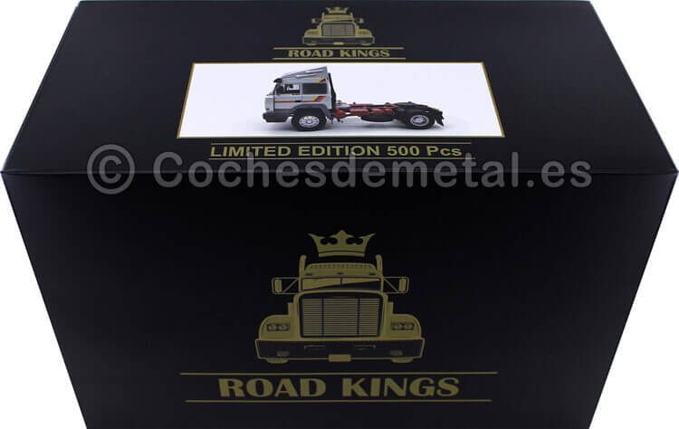 1988 Camion Iveco Turbo Star Gris Plata 1:18 Road Kings 180074