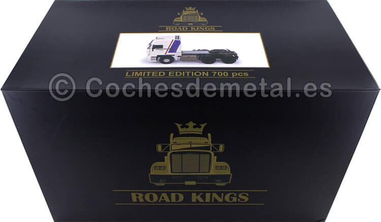 1982 Camion DAF 3300 SpaceCab Blanco/Azul 1:18 Road Kings 180091