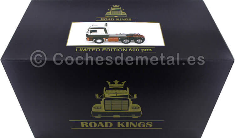 1982 Camion DAF 3600 SpaceCab Verde/Blanco 1:18 Road Kings 180092