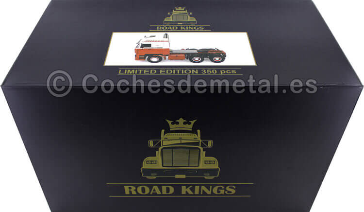 1982 Camion DAF 3600 SpaceCab Blanco/Rojo 1:18 Road Kings 180093