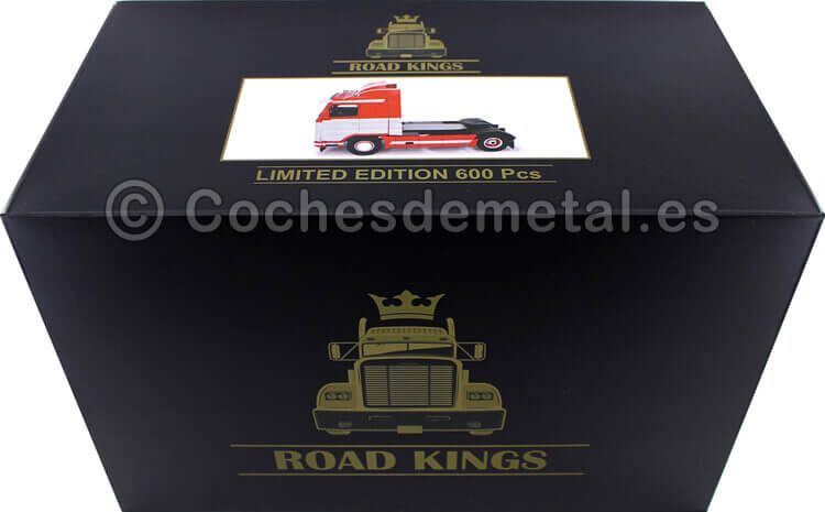1995 Camion Scania 143 Streamline Rojo/Gris 1:18 Road Kings 180101
