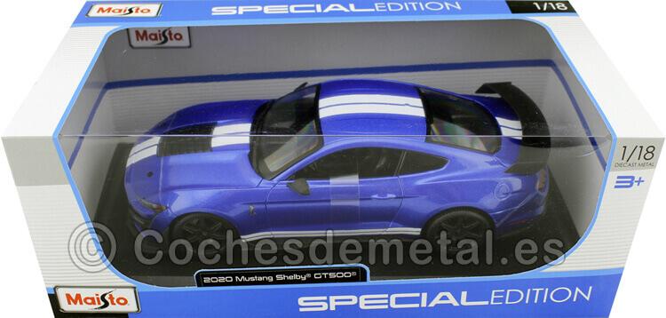 2020 Ford Mustang Shelby GT500 Azul Metalizado 1:18 Maisto 31388