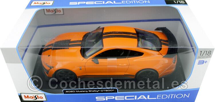2020 Ford Mustang Shelby GT500 Naranja 1:18 Maisto 31388