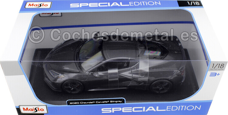 2020 Chevrolet Corvette C8 Stingray Gris 1:18 Maisto 31447