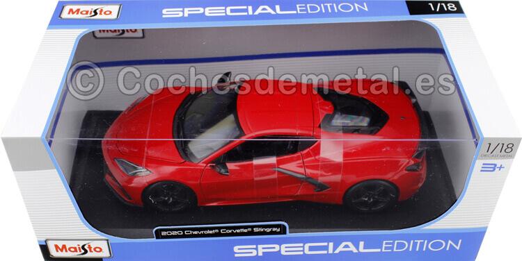 2020 Chevrolet Corvette C8 Stingray Rojo 1:18 Maisto 31447