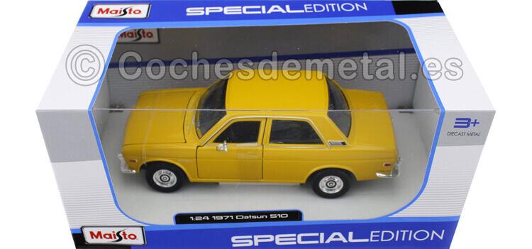 1971 Datsun 510 amarillo 1:24 Maisto 31518