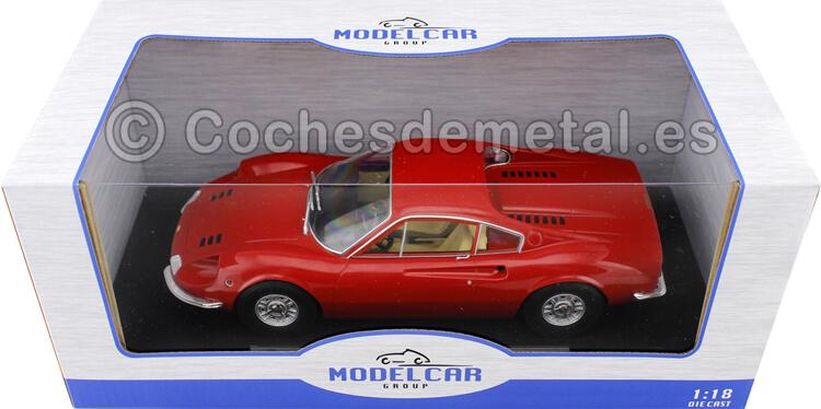 1969 Ferrari Dino 246 GT Rosso Corsa 1:18 MC Group 18166
