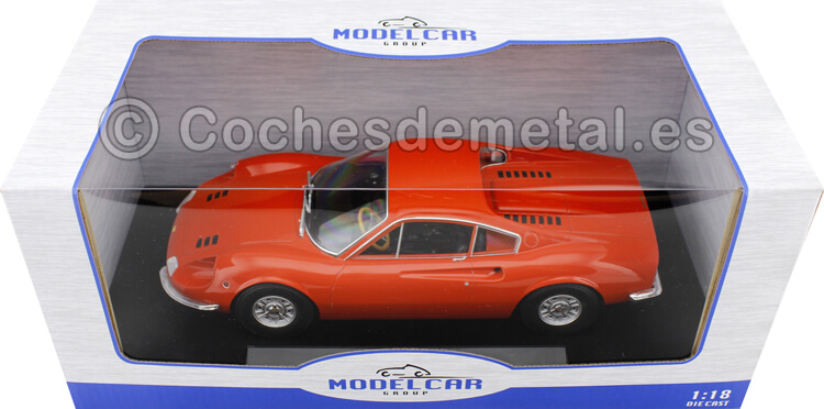 1969 Ferrari Dino 246 GT Naranja 1:18 MC Group 18167