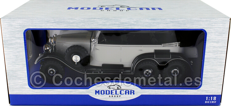 1938 Mercedes-Benz G4 Pullman Cabrio (W31) Gris 1:18 MC Group 18208