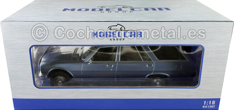1976 Peugeot 504 Break azul Claro 1:18 MC Group 18212