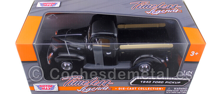 1940 Ford Pickup Black 1:24 Motor Max 73234