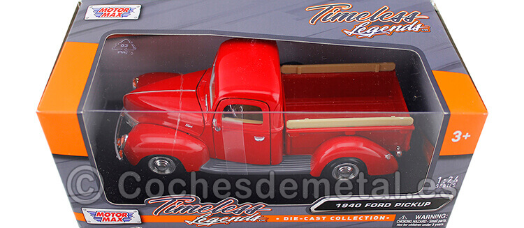1940 Ford Pickup Red 1:24 Motor Max 73234