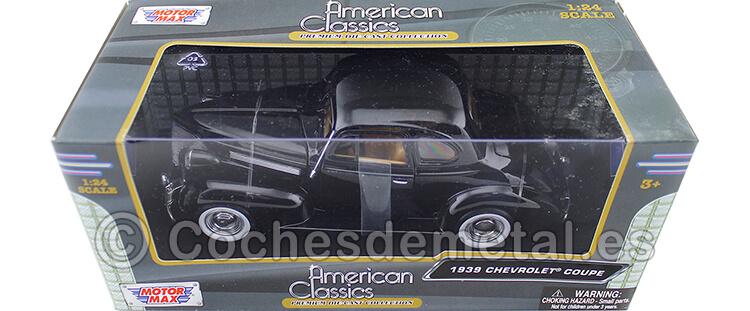 1939 Chevrolet Coupe Black 1:24 Motor Max 73247