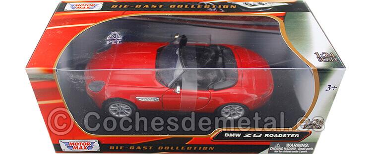 2000 BMW Z8 Roadster Rojo 1:24 Motor Max 73257