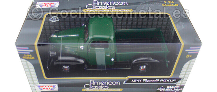 1941 Plymouth Pickup Green 1:24 Motor Max 73278
