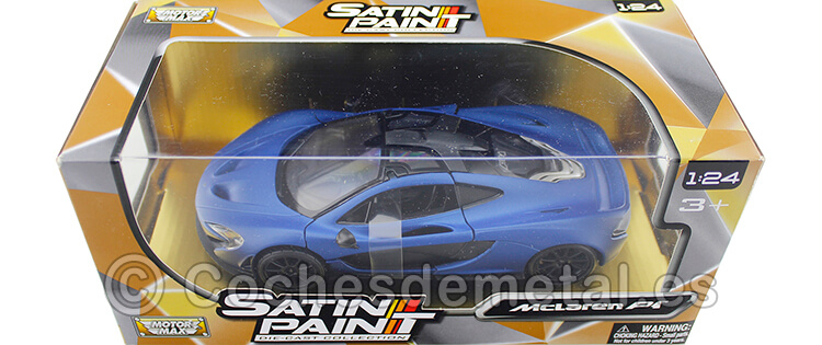 2015 McLaren P1 Satin Blue 1:24 Motor Max 79508