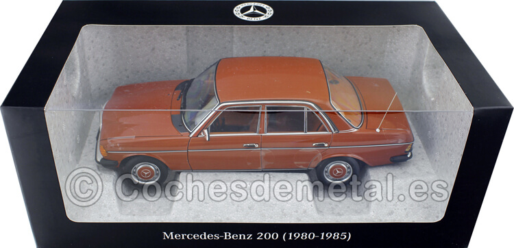 1980 Mercedes-Benz 200 (W123) English Red 1:18 Dealer Edition B66040653