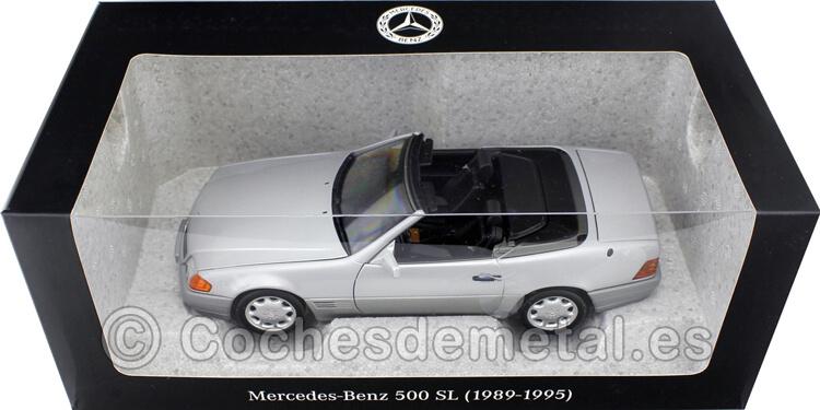 1989 Mercedes-Benz 500 SL Convertible (R129) Metallic Silver 1:18 Dealer Edition B66040656