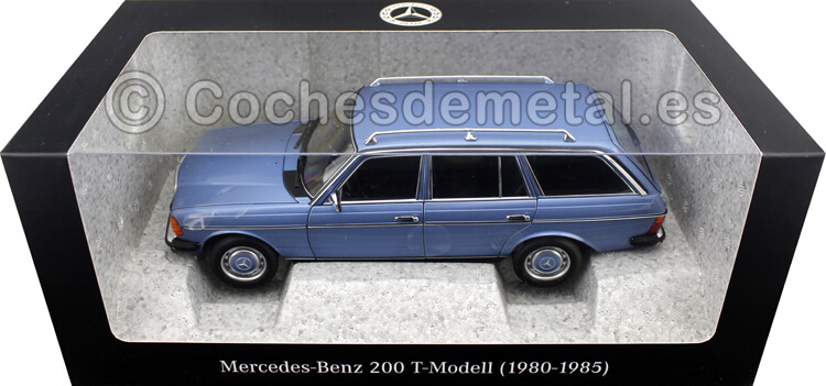 1980 Mercedes-Benz 200 T-Modell (S123) Diamond Blue 1:18 Dealer Edition B66040671