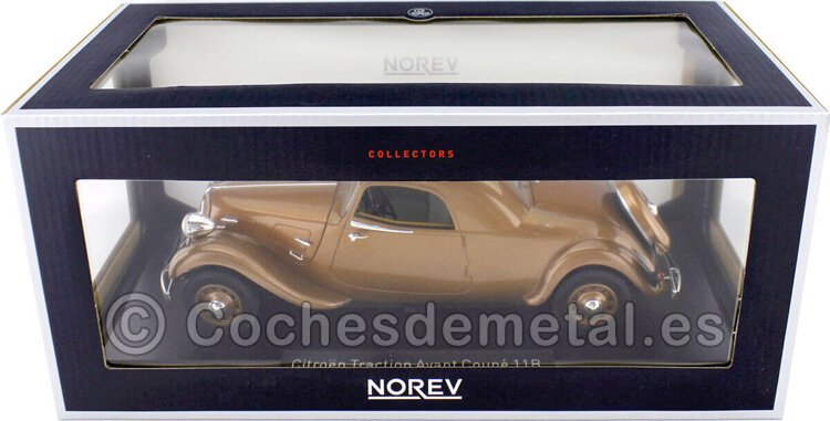 1938 Citroen Traction Avant 11B Coupe Bronce 1:18 Norev 181441