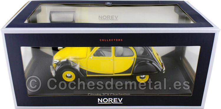 1982 Citroen 2CV Charleston Amarillo/Negro 1:18 Norev 181493