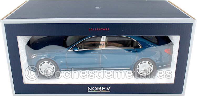 2018 Mercedes-Maybach S650 Limousine Blue Metallic 1:18 Norev 183425