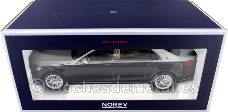 2018 Mercedes-Maybach S650 Limousine Black/Silver 1:18 Norev 183427