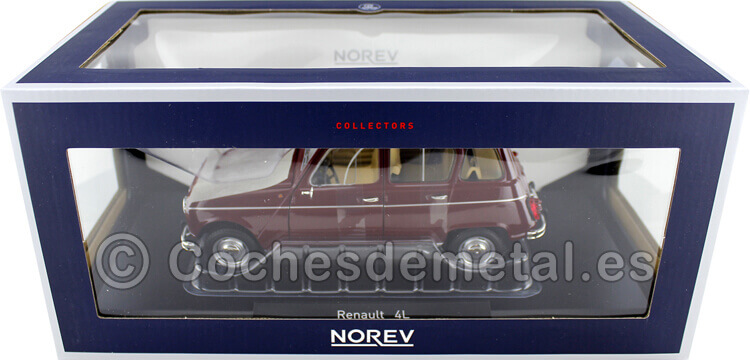 1986 Renault 4 L R4 4L Dark Red 1:18 Norev 185187