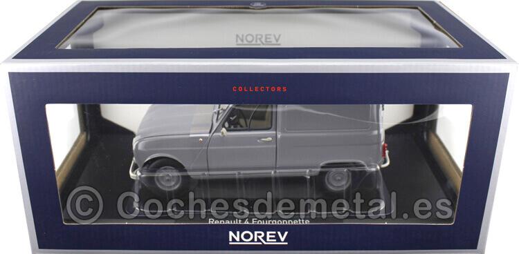 1965 Renault 4 R4 Fourgonette Grey 1:18 Norev 185190