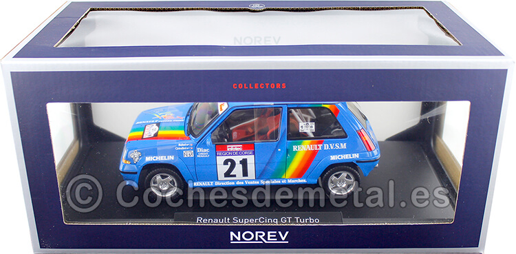 1990 Renault SuperCinq GT Turbo 21 Tour de Corse Cirindini/Balesi 1:18 Norev 185217