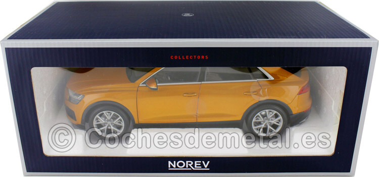2018 Audi Q8 (4M) Orange Metallic 1:18 Norev HQ 188371