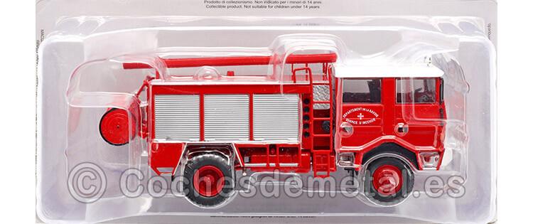 1979 Camión Berliet GBD 4x4 Bomberos Saboya Rojo 1:43 Editorial Salvat SP04