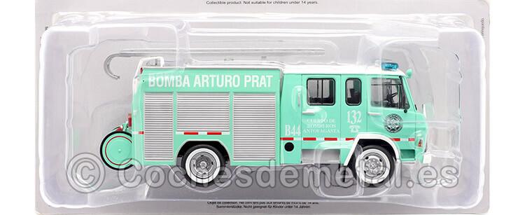 1981 Camión Berliet 770 KB 6 Bomberos Antofagasta/Chile Verde 1:43 Editorial Salvat SP07