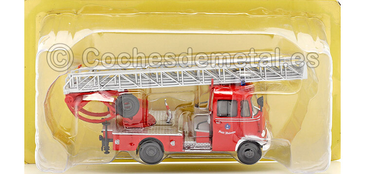 1955 Mercedes-Benz L319 Bomberos Alemania Rojo 1:43 Editorial Salvat SP09
