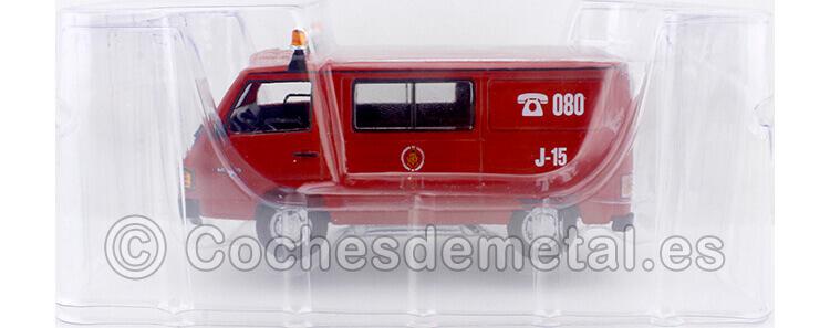 1987 Furgoneta Mercedes-Benz MB 180 [Z-6812-AG] Brigada Bomberos Zaragoza Rojo/Blanco 1:43 Editorial Salvat SP12
