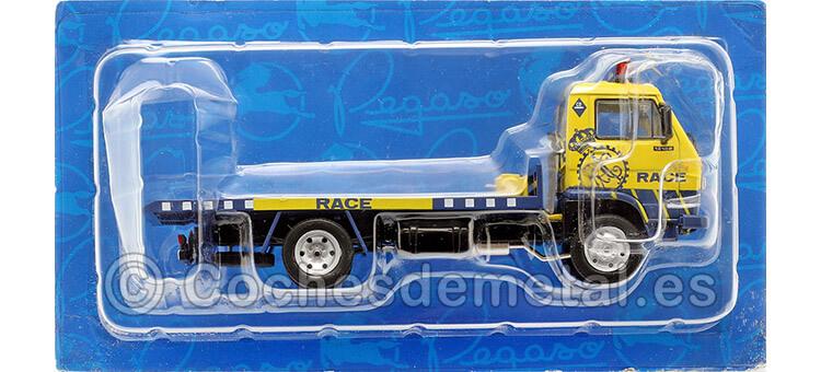 1988 Camión Pegaso Ekus 1210-6 RACE Asistencia Azul/Amarillo 1:43 Salvat PEG004