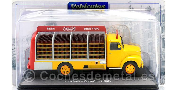 1962 Camión Ebro B-45 [LE-6479] Coca-Cola Amarillo/Rojo 1:43 Editorial Salvat PUB003