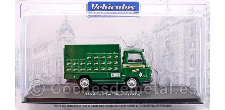 1974 Camión Sava J4 [CS-1128-C] Cervezas San Miguel Verde 1:43 Salvat PUB007