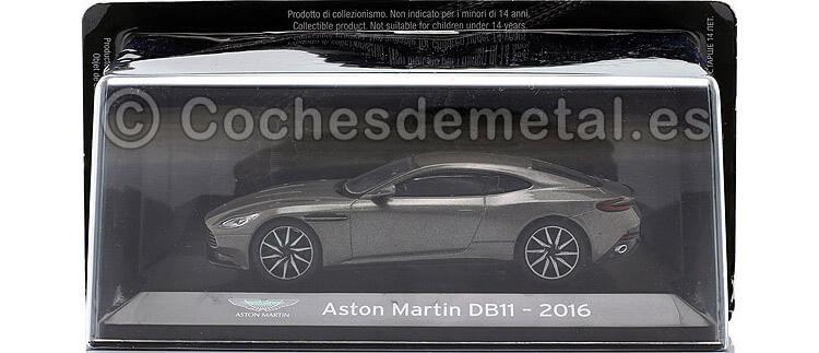 2016 Aston Martin DB11 Gris Metalizado 1:43 Editorial Salvat SC04