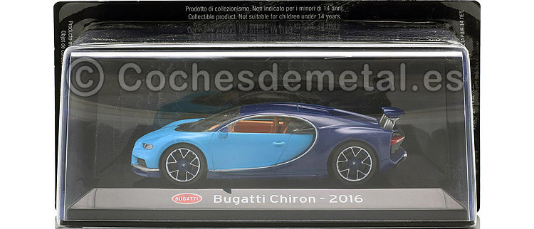 2016 Bugatti Chiron Cian/Azul 1:43 Editorial Salvat SC05