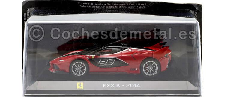 2014 Ferrari FXX-K SuperCars Rojo-Negro 1:43 Editorial Salvat SC12