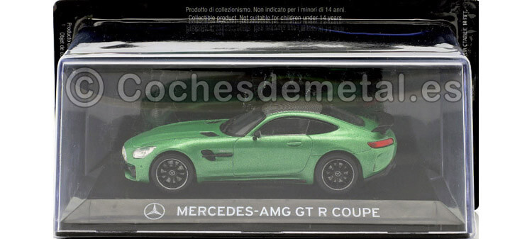 2015 Mercedes-Benz AMG GT R Coupé (C190) SuperCars Verde Magno 1:43 Editorial Salvat SC13