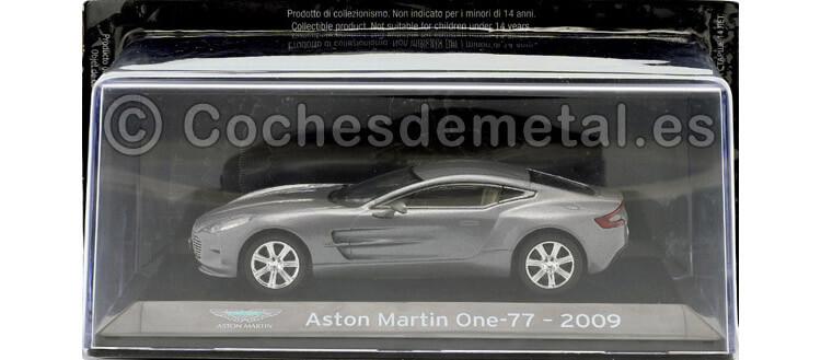 2009 Aston Martin One-77 SuperCars Gris Plata 1:43 Editorial Salvat SC14