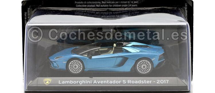 2017 Lamborghini Aventador S Roadster SuperCars Azul 1:43 Editorial Salvat SC15