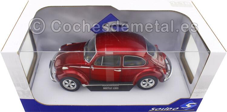1974 Vokswagen Beetle 1303 Custom Metallic Red 1:18 Solido 1800512