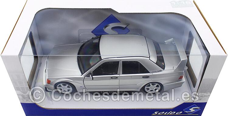 1990 Mercedes-Benz 190E EVO 2 (W201) Gris/Plata 1:18 Solido S1801005