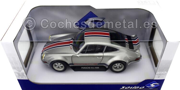 1973 Porsche 911 Carrera RSR Gris Metalizado 1:18 Solido 1801112